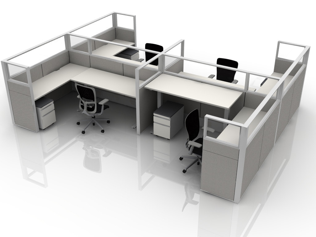 Large Showroom With New Used Office Furniture Take It You Today Great Deals On Workstations And